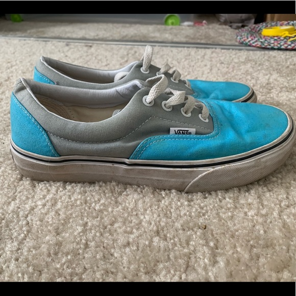 Blue and gray vans
